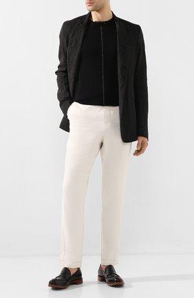Мужские кожаные пенни-лоферы ROCCO P. черного цвета, арт. 10014/TRIP0N | Фото 2