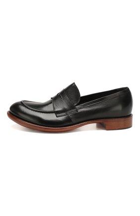 Мужские кожаные пенни-лоферы ROCCO P. черного цвета, арт. 10014/TRIP0N | Фото 3