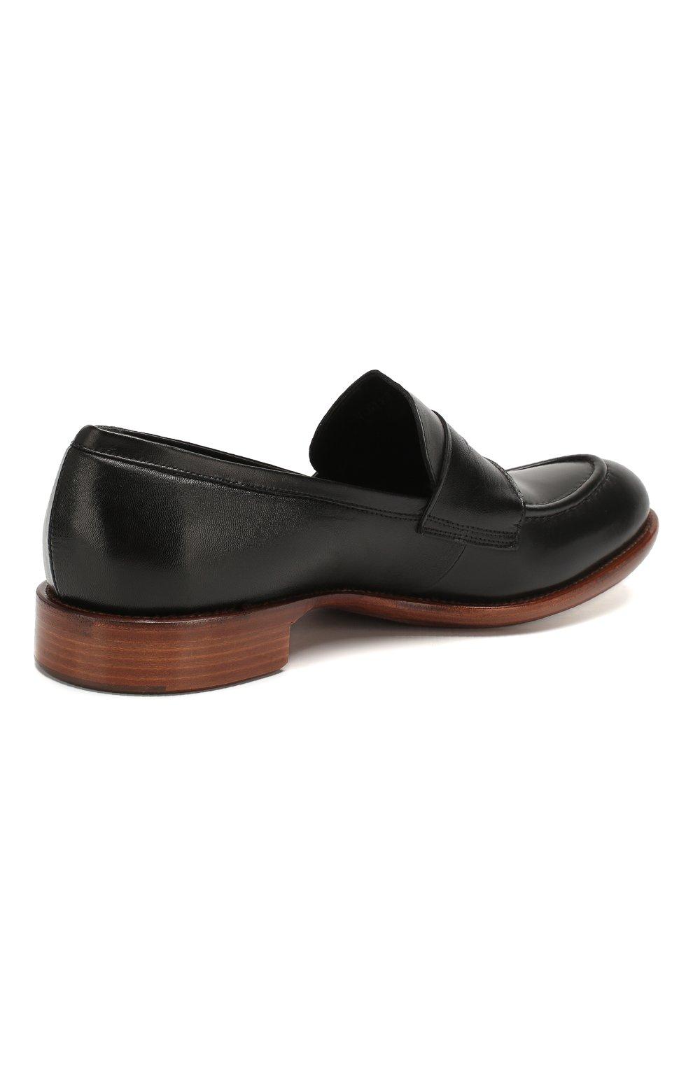 Мужские кожаные пенни-лоферы ROCCO P. черного цвета, арт. 10014/TRIP0N | Фото 4
