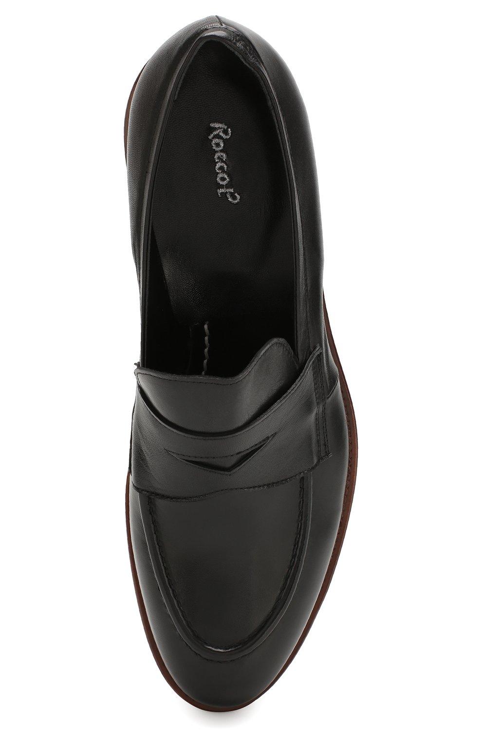 Мужские кожаные пенни-лоферы ROCCO P. черного цвета, арт. 10014/TRIP0N | Фото 5
