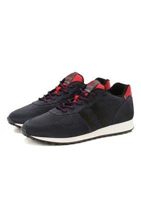 Мужские замшевые кроссовки HOGAN темно-синего цвета, арт. HXM4290AN58LJH | Фото 1