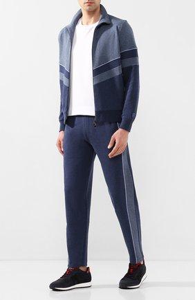 Мужские замшевые кроссовки HOGAN темно-синего цвета, арт. HXM4290AN58LJH | Фото 2