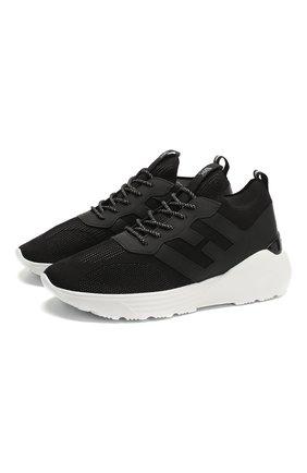 Мужские комбинированные кроссовки HOGAN черного цвета, арт. HXM4430CM50DWM | Фото 1