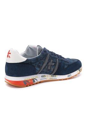 Мужские комбинированные кроссовки eric PREMIATA синего цвета, арт. ERIC/VAR4668   Фото 4