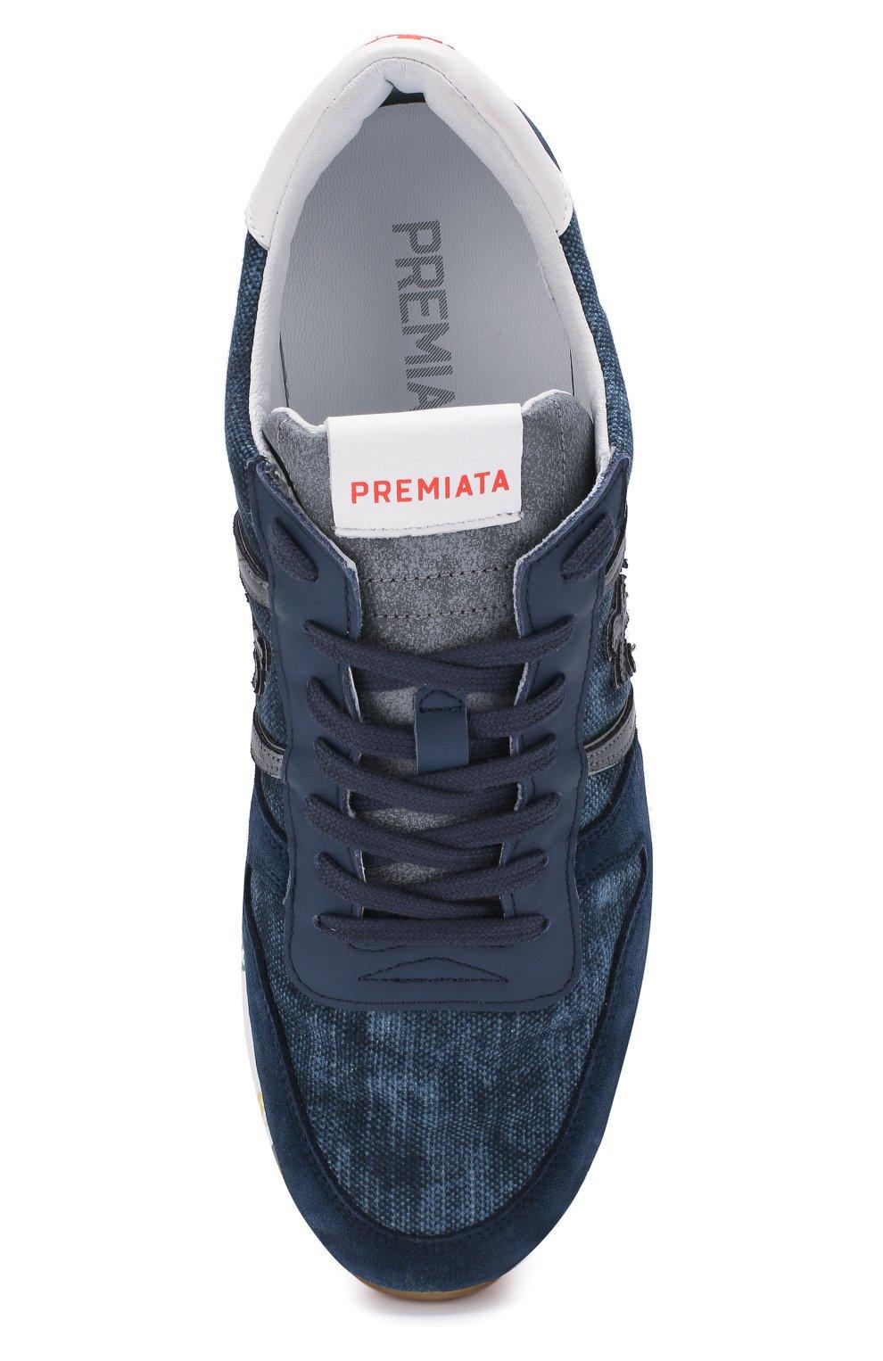Мужские комбинированные кроссовки eric PREMIATA синего цвета, арт. ERIC/VAR4668   Фото 5