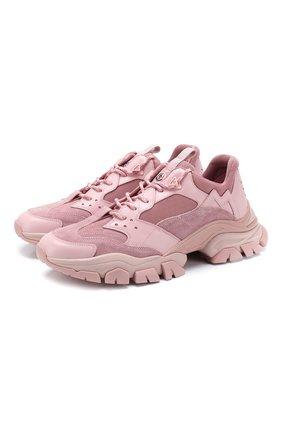 Мужские комбинированные кроссовки 2 moncler 1952 MONCLER GENIUS светло-розового цвета, арт. F1-092-4M700-00-02SCT | Фото 1