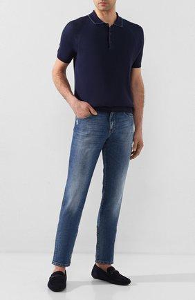 Мужские замшевые мокасины CORNELIANI синего цвета, арт. 85TM52-0120924 | Фото 2