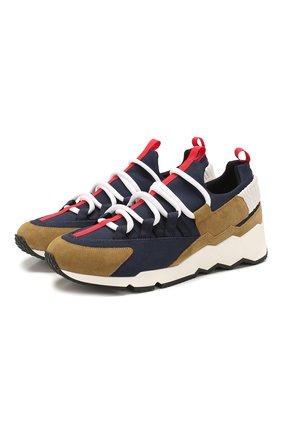 Мужские комбинированные кроссовки PIERRE HARDY разноцветного цвета, арт. LX01X/MESH NE0PRENE-SUEDE CALF-CALF   Фото 1