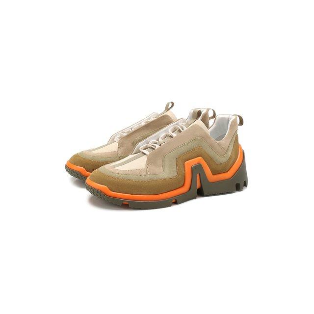 Замшевые кроссовки Pierre Hardy — Замшевые кроссовки