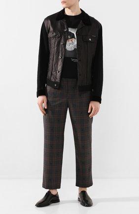 Мужские кожаные оксфорды PIERRE HARDY черного цвета, арт. TG02/CALF   Фото 2