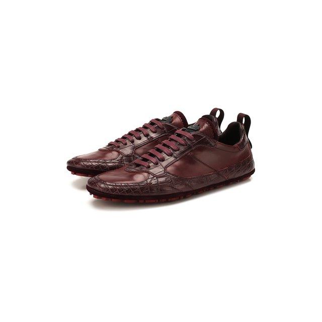 Кроссовки из кожи крокодила Dolce & Gabbana