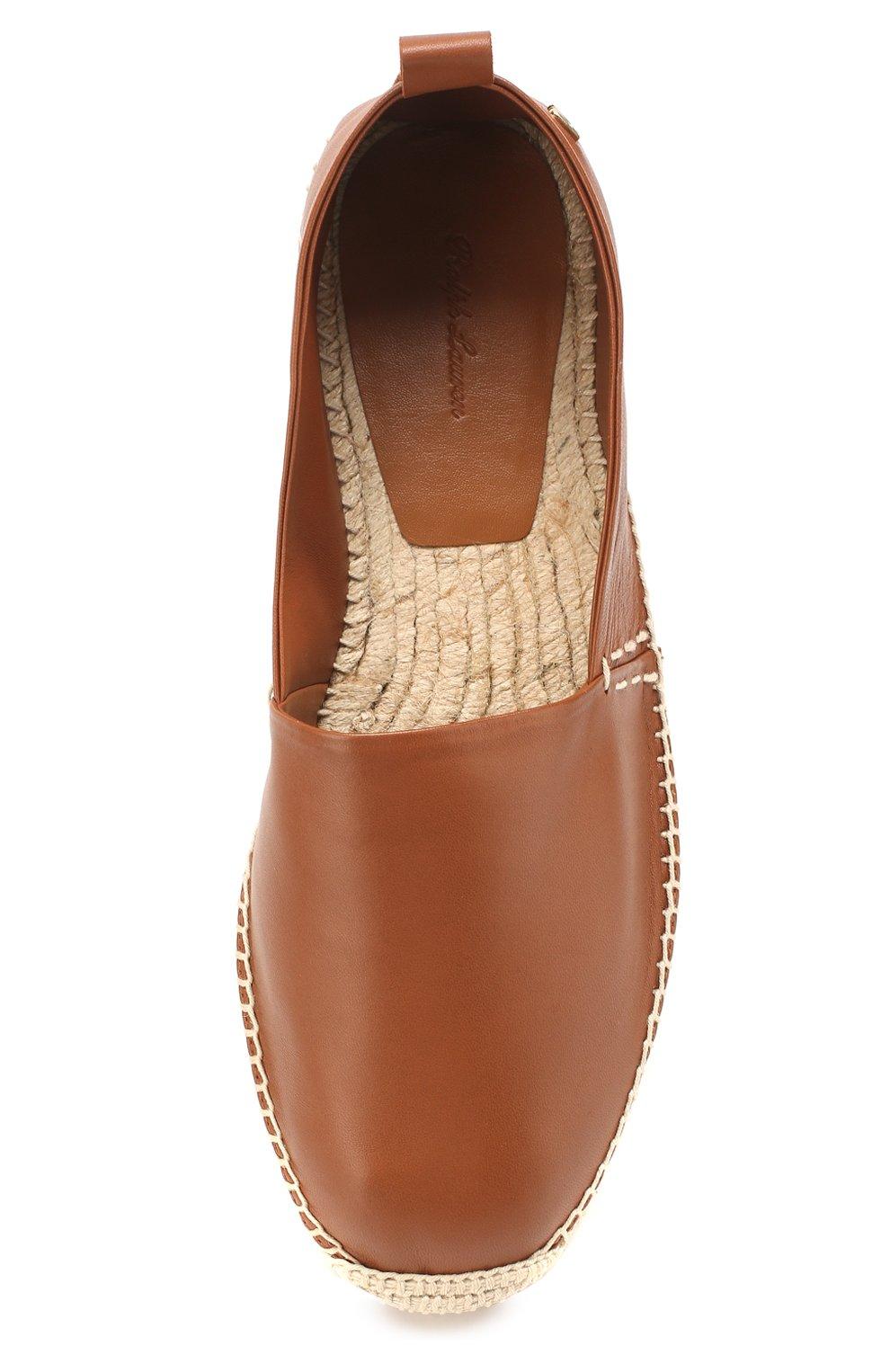 Мужские кожаные эспадрильи RALPH LAUREN коричневого цвета, арт. 815795834 | Фото 5