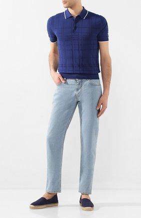 Мужские текстильные эспадрильи RALPH LAUREN темно-синего цвета, арт. 815795836 | Фото 2