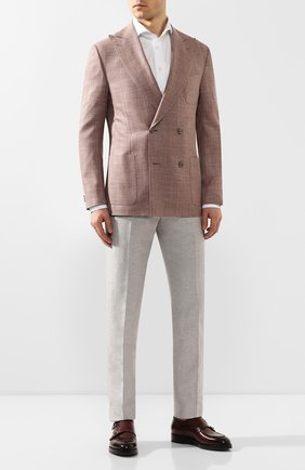 Мужские кожаные монки SANTONI бордового цвета, арт. MCC016036BQ1MVVDB54   Фото 2