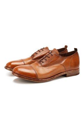 Мужские кожаные оксфорды MOMA коричневого цвета, арт. 2AS029-CA   Фото 1