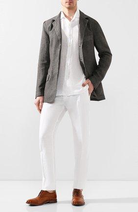 Мужские кожаные оксфорды MOMA коричневого цвета, арт. 2AS029-CA   Фото 2