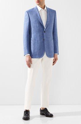 Мужской кожаные дерби SILVANO SASSETTI темно-синего цвета, арт. S19935XW06DCHKTFRL0 | Фото 2