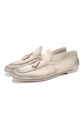 Мужские кожаные лоферы SILVANO SASSETTI белого цвета, арт. S19960X414BCABUBIAN | Фото 1