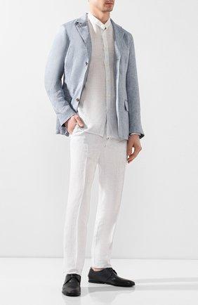 Мужской кожаные дерби SILVANO SASSETTI темно-синего цвета, арт. S19964X414BCABUBLU. | Фото 2