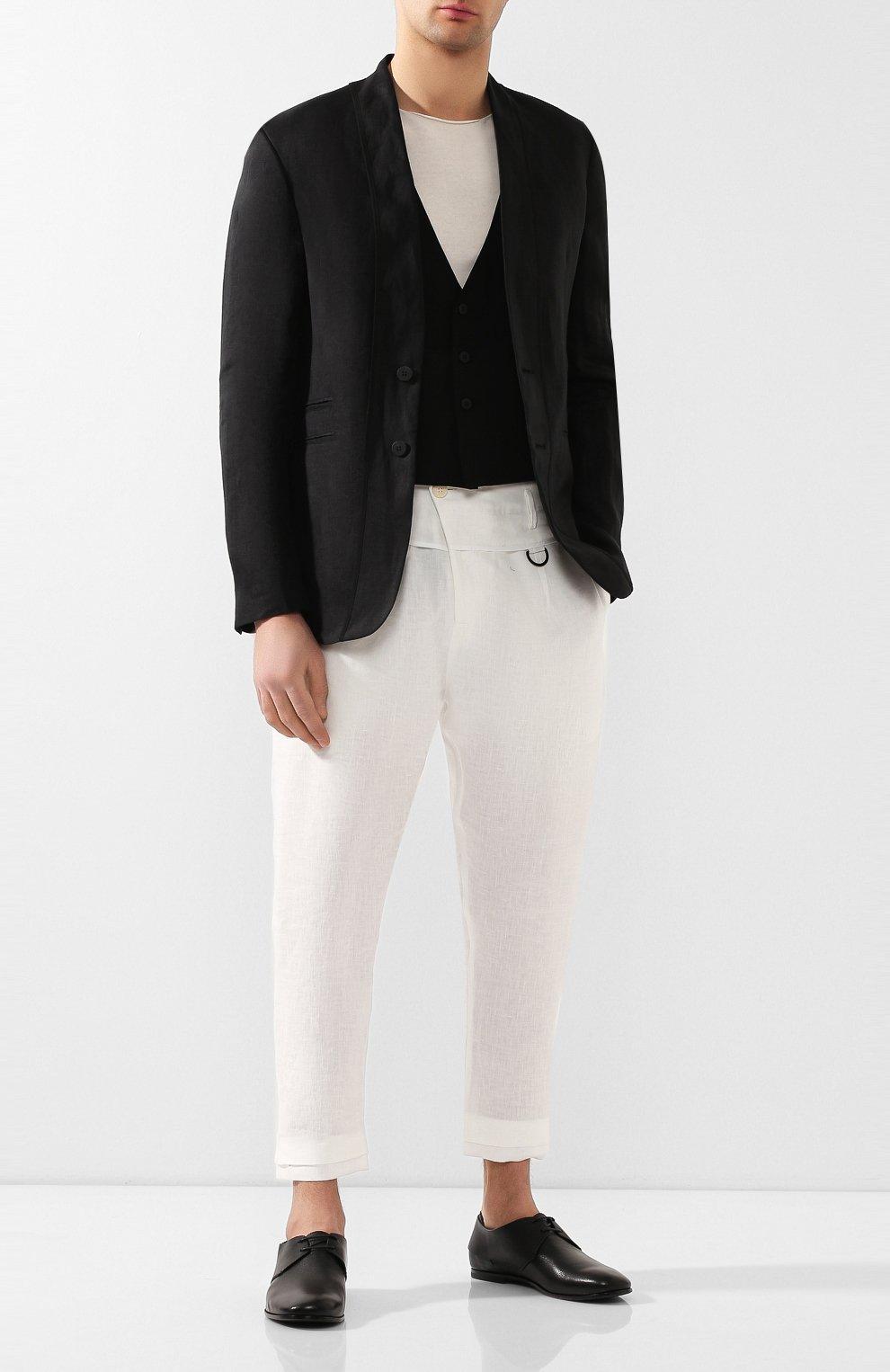 Мужские кожаные дерби SILVANO SASSETTI черного цвета, арт. S19964X414BCABUNER. | Фото 2