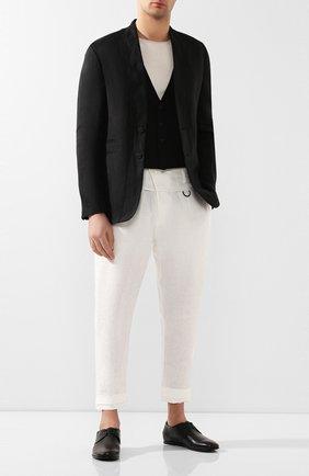 Мужской кожаные дерби SILVANO SASSETTI черного цвета, арт. S19964X414BCABUNER. | Фото 2