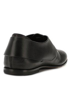 Мужские кожаные дерби SILVANO SASSETTI черного цвета, арт. S19964X414BCABUNER. | Фото 4