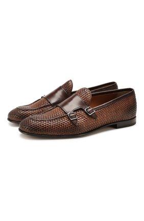 Мужские кожаные монки SILVANO SASSETTI коричневого цвета, арт. S19990X410XR13PBRCH | Фото 1