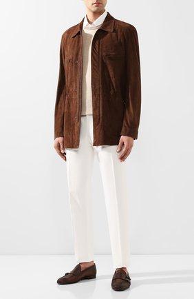 Мужские кожаные монки SILVANO SASSETTI коричневого цвета, арт. S19990X410XR13PBRCH | Фото 2