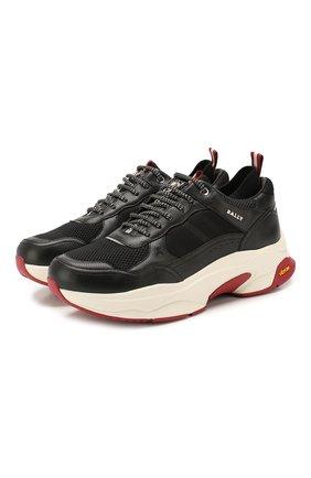 Мужские комбинированные кроссовки viber BALLY черного цвета, арт. VIBER-T/00 | Фото 1