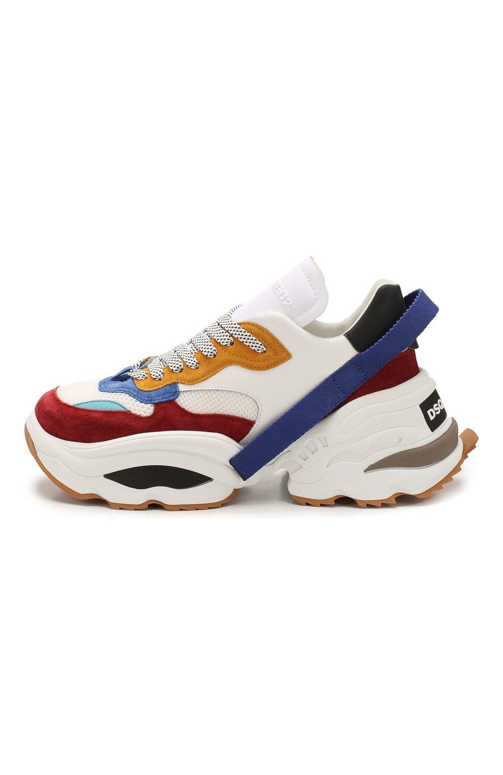 Мужские комбинированные кроссовки the giant DSQUARED2 разноцветного цвета, арт. SNM0088 01502616 | Фото 3