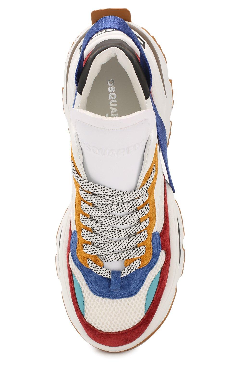 Мужские комбинированные кроссовки the giant DSQUARED2 разноцветного цвета, арт. SNM0088 01502616 | Фото 5