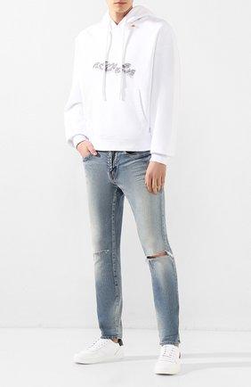 Мужские кожаные кеды maple gym DSQUARED2 белого цвета, арт. SNM0111 01500360 | Фото 2