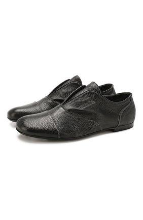Мужские кожаные оксфорды ROCCO P. черного цвета, арт. 10004/ANTIK   Фото 1