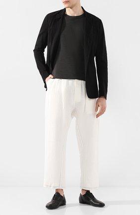 Мужские кожаные оксфорды ROCCO P. черного цвета, арт. 10004/ANTIK   Фото 2