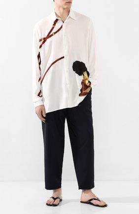 Мужские кожаные шлепанцы MAISON MARGIELA черного цвета, арт. S57WX0023/P1993 | Фото 2