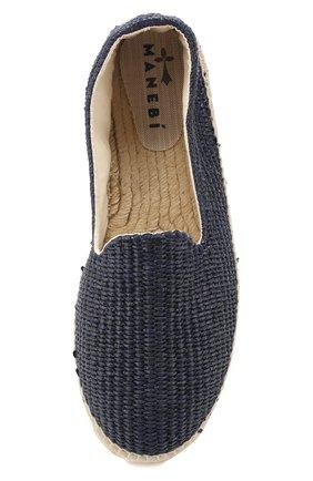 Мужские эспадрильи MANEBI синего цвета, арт. C0.0C0   Фото 5 (Материал внешний: Текстиль; Материал внутренний: Текстиль)