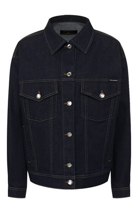 Женская джинсовая куртка DOLCE & GABBANA темно-синего цвета, арт. F9H06D/G899X | Фото 1