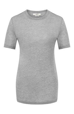 Женская футболка из смеси вискозы и кашемира ISABEL MARANT ETOILE светло-серого цвета, арт. TS0300-20P062E/DENA   Фото 1