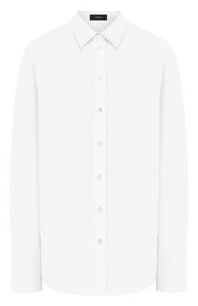 Женская хлопковая рубашка JOSEPH белого цвета, арт. JF004056 | Фото 1