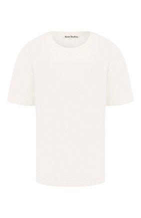 Женская хлопковая футболка ACNE STUDIOS белого цвета, арт. AL0119/W | Фото 1