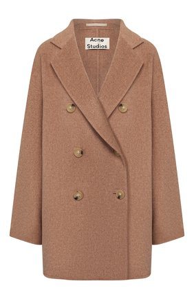 Женское шерстяное пальто ACNE STUDIOS бежевого цвета, арт. A90187/W | Фото 1