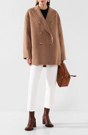 Женское шерстяное пальто ACNE STUDIOS бежевого цвета, арт. A90187/W | Фото 2