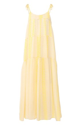 Женское шелковое платье EVARAE желтого цвета, арт. S20-112R-SNY. | Фото 1