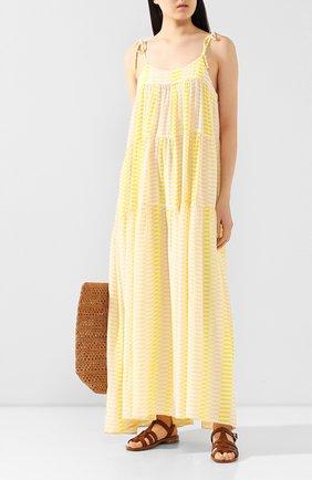 Женское шелковое платье EVARAE желтого цвета, арт. S20-112R-SNY. | Фото 2
