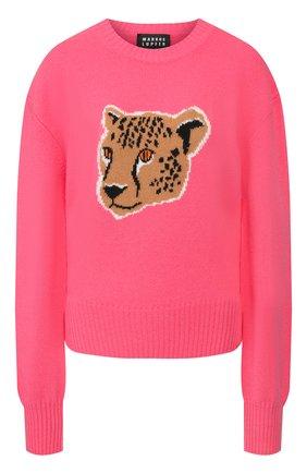 Женская шерстяной пуловер MARKUS LUPFER малинового цвета, арт. KN2847 | Фото 1