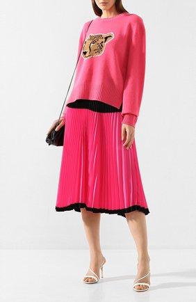 Женская шерстяной пуловер MARKUS LUPFER малинового цвета, арт. KN2847 | Фото 2