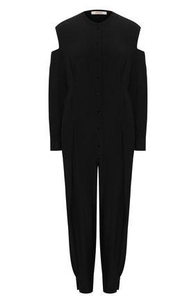 Женский шелковый комбинезон DOROTHEE SCHUMACHER черного цвета, арт. 749011/FLUID V0LUMES | Фото 1