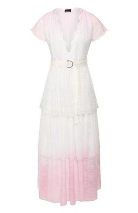 Женское платье с поясом ERMANNO ERMANNO SCERVINO розового цвета, арт. 46T AB82 MAL | Фото 1