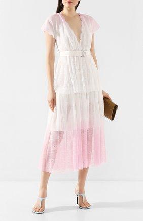 Женское платье с поясом ERMANNO ERMANNO SCERVINO розового цвета, арт. 46T AB82 MAL | Фото 2