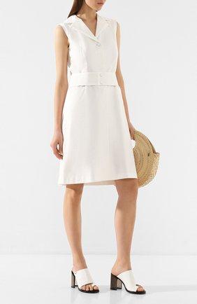 Женское хлопковое платье WEILL белого цвета, арт. 125011 | Фото 2